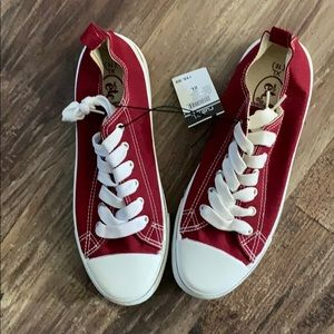 Burgundy Converse Like Sneakers